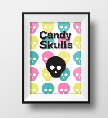 Candy Skulls Plakat