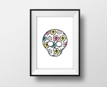 Candy Skulls Maskot Poster