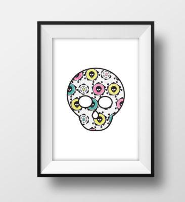 Candy Skulls Maskot Plakat